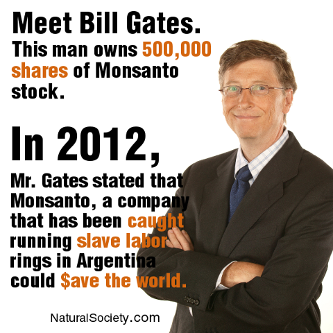 Bill Gates Owns 500,000 Shares of Monsanto Stock